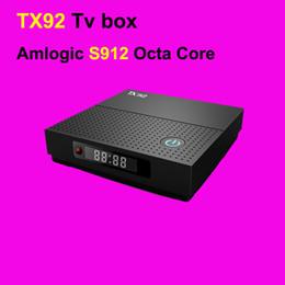 Wholesale Box Downloads - New Arrival 2GB 16GB TX92 Tv Box Full HD Video Download Wholesale Android Smart Tv 2.4g 5.8g Wifi Ott Tv Box