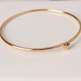 Wholesale Gold Cuff Metal Bangles Bracelets - Classic simple bracelet high quality wholesale sweet heart wish bracelet metal bangle wholesale free shipping