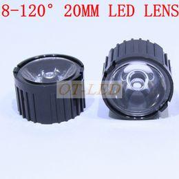 Wholesale 15 Degree Led - Wholesale- 20pcs 20mm Black8 15 30 45 60 90 120 degree LED LENS Reflector Collimator for 1W 3W 5W Star LED Light  Laser LED IR LED
