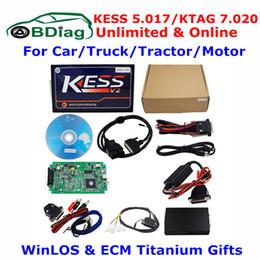 Wholesale Online Tags - Unlimited Kess V5.017 KTAG V7.020 Online Master V2.23 Kess V2 5.017 OBD2 Manager Tuning Kit K-TAG 7.020 Car Truck ECU Programmer
