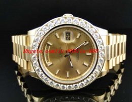 Wholesale Mens Solid Gold Bracelets - Stainless Steel Bracelet New Mens 2 II Solid 18kt 41MM Diamond Watch Gold Dial 8Ct Automatic Movement MAN WATCH Wristwatch