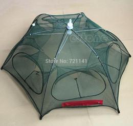 Wholesale crabs trap - Wholesale- Hot New Portable Folded Fishing Fish Trap Net Mesh Baits Cast Shrimp Minnow Crab
