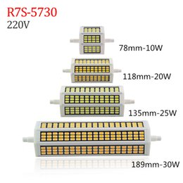 Wholesale R7s 118mm - 2017 New Led R7S 118mm 30W 360 Degree 10W 78mm Lampadas Led R7S Bulb 25W 135mm 30W 189mm Horizontal Plug Led Light Halogen Floodlight