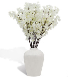 Fiore artificiale di qualità online-Fiore di seta Fiore di ciliegio Fiore di seta per matrimonio Artificiale Sakura 2 Opzioni di colore Vasi di alta qualità Decorazione domestica LLFA