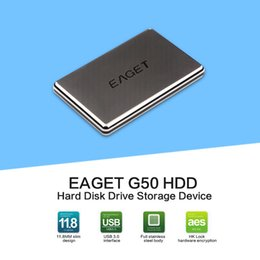 Wholesale Hard Disk Drives 1tb - Wholesale- EAGET G50 1TB External Hard Drive 500GB HDD Stainless Steel Body Encryption USB3.0 High-Speed PC HDD 500G 1TB Hard Disk Hot Sell