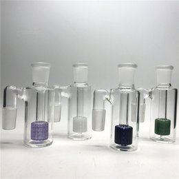 Wholesale High Multiple - 18mm Ash catcher 90 degree Ashcatcher for beaker bong Bubbler Water Pipes High quality Multiple colors Smoking Accessories GA-010