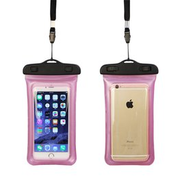 Wholesale Cell Phone Cases Abs - IPX8 Waterproof Mobile Phone Bag Touch Screen Water Proof Cell Phone Pouch with Floating Wrist Strap for Iphone 7 plus