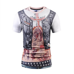 Wholesale Tattoo Style T Shirts - Hotsale 2017 new arrival fashion t-shirts 3d print mens tattoo style tee 6 sizes wholesale cheap sweatshirts hip hop sex cheap price tshirts