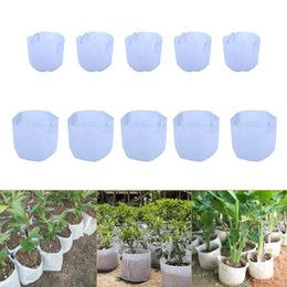 Wholesale Cheap Woven Bags - White Non-Woven Fabric Reusable Soft-Sided Highly Breathable Grow Pots Planter Bag With Handles Cheap Price Large Flower 10 Size Optio