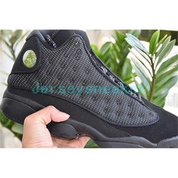 Wholesale High Cat Shoes - New air retro 13 OG Black Cat Men Basketball Shoes 3M Reflect 13s Black Cat Athletics Sneakers High Quality With Shoes Box