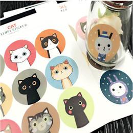 Wholesale Bedroom Sheets - Labels Stickers Scrapbook Masking Sticky Illust Sticker Sealing Paste Decal 1 Sheet Scrapbook Masking= 9pcs Labels