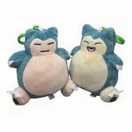 "Wholesale Pokemon Stuffed Set - Hot New 2Pcs Set 4.5"" 11CM Snorlax Poke Doll Anime Collectible Stuffed Dolls Pendants Party Gifts Soft Plush Toys"