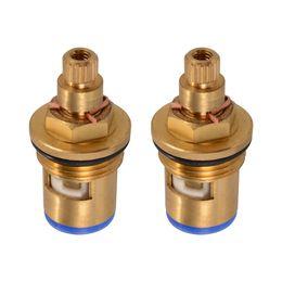 Wholesale Tap Ceramic Cartridge - 2x Replacement Brass 1 4 Turn Ceramic Disc Cartridge Hot Cold Tap Valve HS919-SZ+-