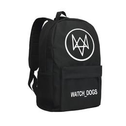 Wholesale Dog Backpack Large - Children School Bags Oxford Bag Watch Dog Knapsack Game Backpack Men Oxford Shoulder Bags for Students Hiking Bag Black Large Capacity Bag