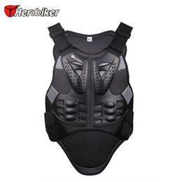 Wholesale Reflect Jacket - HEROBIKER Motorcross Racing Armor Black Motorcycle Riding Body Protection Jacket With A Reflecting Strip Motorcycle Armor