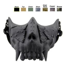 Máscara facial de la media del cráneo del airsoft online-Máscara del cuerpo del desierto Equipo de protección facial Airsoft Equipo de tiro al aire libre Máscara de cráneo táctico Airsoft de media cara NO03-108