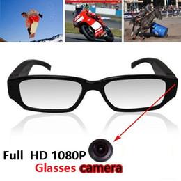 Wholesale Mni Camera - 1080P glasses Hidden camera Spy Glasses eyewear camera Security surveillance FULL HD Mni DV audio video recorder in retail box black