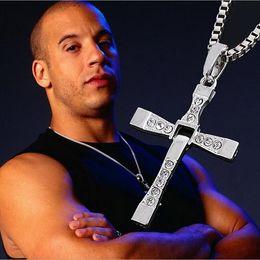 Wholesale Chains Neckless - Wholesale-Classic Cross Necklaces Pendants Accesoire Homme Original Star Toledo Crystal Pendant Neckless Men's Accesories Jewelry 6111