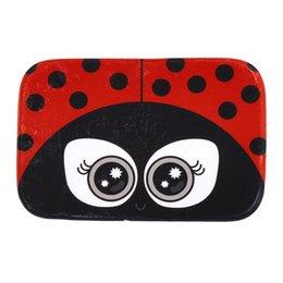 Wholesale Red Ladybug Big Eyes Print Bathroom Doormar Carpet Anti Slip Ladybird Door Mat Pad