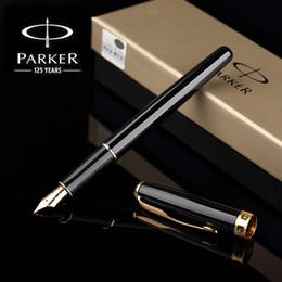 fontes papel de carta Desconto Parker Sonnet Caneta de Prata / Golden Clip Businesser Parker Caneta de metal Completo escritório Escrita Suprimentos de Papelaria