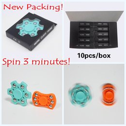 Wholesale Tip Rotation - New Fidget Spinner Decompression Anxiety Toys EDC Hand Spinners Finger Tip Rotation HandSpinner for Kids and Adult with Retail Boxes