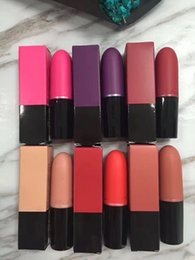 Wholesale Top Brand Makeup Wholesale - Hot brand M*c matte lipstick makeup lip gloss 6 colors top quality free shipping