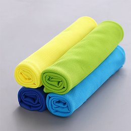 Wholesale Bamboo Absorbent Towel Face - New Creative Summer Ice Cooling Towel Cool Gym Sports Towels for Basketball Absorbent Microfiber Fabric Free Shipping