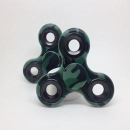 Wholesale Plastic Beyblades - Camouflage fidget Spinner Top Tri Fidget Hand Spinner Finger Tri-Spinner ABS Gyroscope Classic Beyblades Fidget Relieve Stress toy DHL free