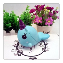 Wholesale Cartoon Cake For Kids - Wholesale Kawaii Squishies Whale Cartoon Collectible Whale Squishy Millie Phone Charms Squeeze Elasticity Stretch Vent Cake Kid Toy Gift