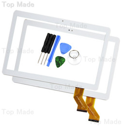 Wholesale tablets screen repairs - Wholesale- New 10.1'' inch YLD-CEGA442-FPC-A0 Touch Screen for White Tablet PC Digitizer Replacement with Free Repair Tools