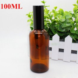 Wholesale Vacuum Refill - Black or Gold Cap 100ml Amber Glass Spray Bottles 100ml Vacuum Glass Bottles Refill Bottes Spray Bottles Empty Aromatherapy Perfume Bottle