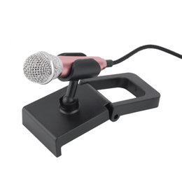 Wholesale Best Mobile Laptops - Best quality New 1pcs Mini 3.5mm Wired Microphone for Mobile Phone Tablet PC Laptop Speech Sing 4 Color Newest