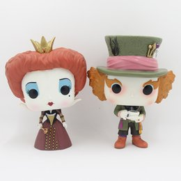 Wholesale Alice Wonderland Decorations - Funko POP Alice in Wonderland the Queen Iracebeth Mad Hatter 12cm PVC Action Figures Model Toy Collection Doll Decoration