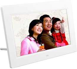 Wholesale Video Picture Photo Frame - Digital Photo Frame HD Bright TFT LED Digital Movies MP3 Alarm Clock Photo Picture Frame Smart Home Decal White Black US Plug