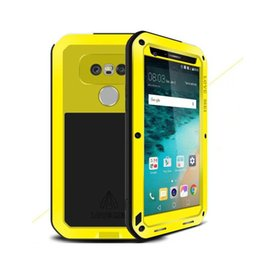 Wholesale Love Mei Powerful - LOVE MEI Powerful Snowproof Armor Case For LG G3 G4 V10 G5 Metal Corning Gorilla Glass Silicone Shockproof Dirtproof Cover Free Shipping