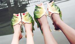 Wholesale Kids Slippers Beach - 2017 New Hot Sale Fashion Kids Fish Shape Slipper Women Men Beach Slippers Unisex Shoes Free Shipping