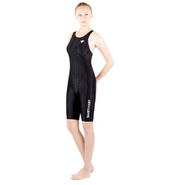 Wholesale Full Black Body Suit - HXBY Women Girls fastskin Full Waterproof Body Suit Swimwear Long Sleeve Arena Competitive Swimming Swimsuit-5110--B