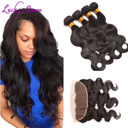 Wholesale Lace Products - Grace 8A Hair Products With Closure Pre Plucked Lace Frontal Closure With Bundles Ear To Ear Brazilian Body Wave With Frontal