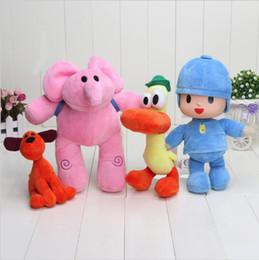Wholesale Pocoyo Toys - 4pcs set 14-28cm Pocoyo Loula Elly Pato Stuffed Animals Plush Toys Free Shipping