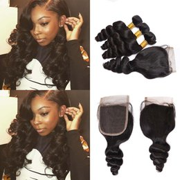 Wholesale Mixed Length Brazilian Full Head - Lace Front With Bundle Malaysian Brazilian Relaxed Curly Full Head Nature Black Unprocessed Human Hair Extensions Loose Wave For Black Women