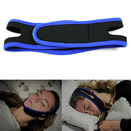 Wholesale Anti Snoring Chin Strap - Anti Snoring Chin Strap Neoprene Stop Snoring Chin Strap Support Belt Anti Apnea Jaw Solution Sleep Device Snoring Cessation
