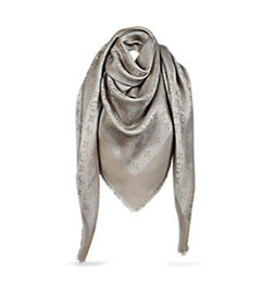 Wholesale Silk Fashions Women - 2017 Factory price Luxury classic cotton pashmina scarf shawl women silk scarf metal printing scarf wraps 140*140 14 colors