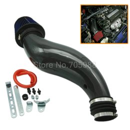 Wholesale Honda Civic Ek - NEW Air Intake Pipe For 92-00 Honda Civic EK EG Induction Filter Kit Carbon Fiber BL
