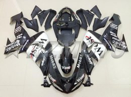 Wholesale West Fairings - New Customized ABS motorcycle bike Fairing Kits Fit For kawasaki Ninja ZX10R ZX-10R 2006 2007 06 07 bodywork Set color black white west