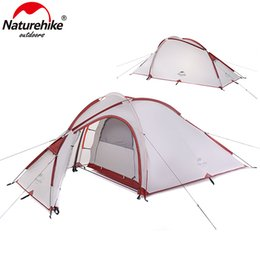 Wholesale Construction Aluminum - NatureHike Hiby Series Family Tent 20D 210T Ultralight Fabric For 3 Person With Mat NH17K230-N