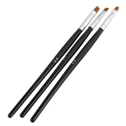 Wholesale Best Nail Art Brushes - Wholesale- Best Sale 3pcs Black Nail Art Design Pen Brush Manicure Painting Drawing