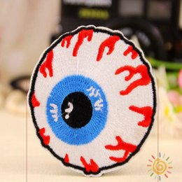 Wholesale Iron Decals Wholesale - Eyeball Embroidered Iron On Applique Motif Patch 5*5CM