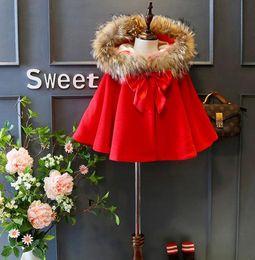 Wholesale Coat Acket - 2017 girls coat Winter Baby acket coat kids clothing luxury baby girls clothes christmas children clothing red girls outerwear coats