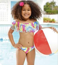 Wholesale Black Bathing Suit Shorts - 2017 Girls Childrens Bathing Suit Fashion Beach Bikini Swimwear Clothing Set Summer Board Shorts Swimsuit Girl Kids Swim Enfant Clothes