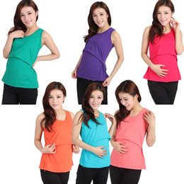 Wholesale Wholesale Cheap Dresses For Women - Modal Nursing Tank tops cheap breastfeeding vest clothes affordable maternity wear clothing for pregnant women pregnancy dresses